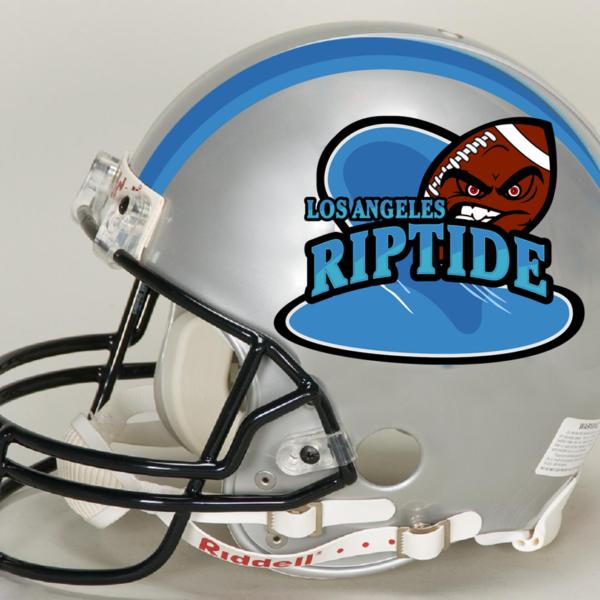 LA Riptide Helmet Logo
