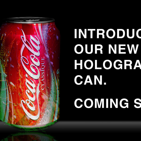 Holographic Coke Can Ad