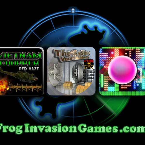 Frog Invasion Games Post Card