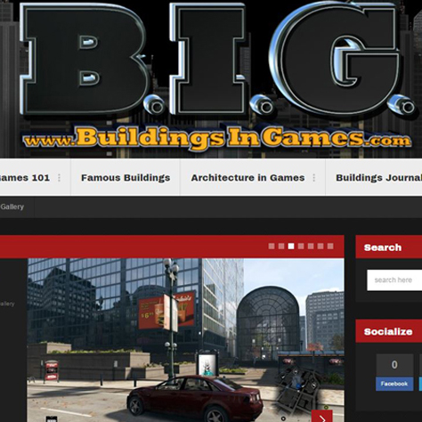 B.I.G. Buildings In Games Website Design