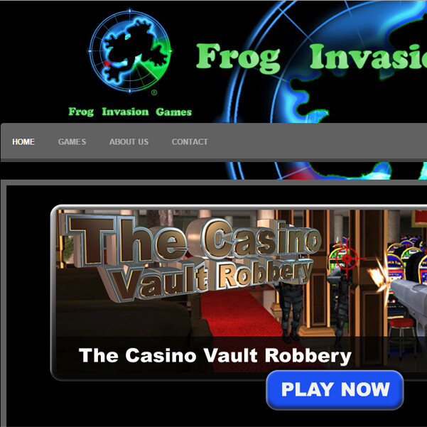 Frog Invasion Games Website Design