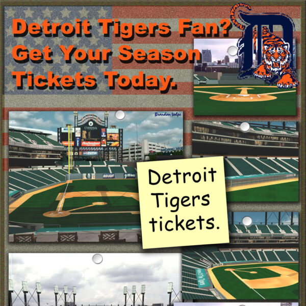 Detroit Tigers Tickets Poster