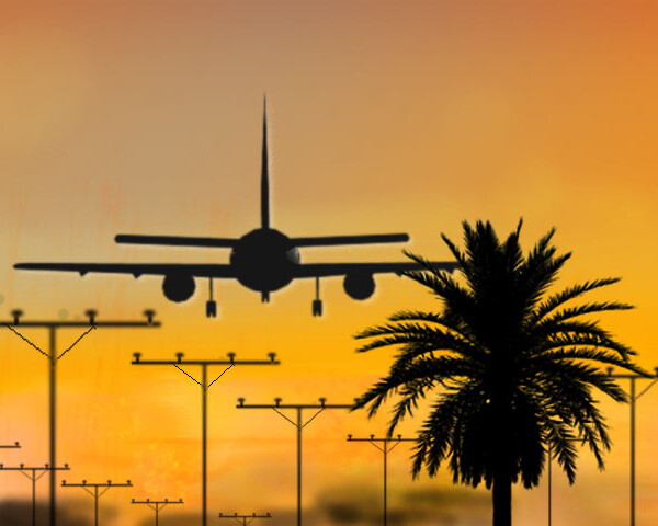 Airport Photography Illustration